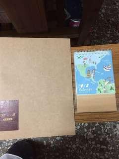 方格筆記本+月曆