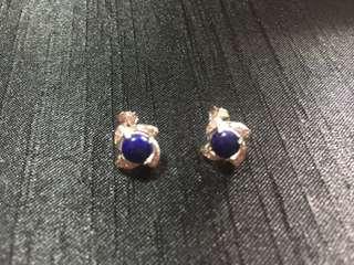🚚 青金石925耳環