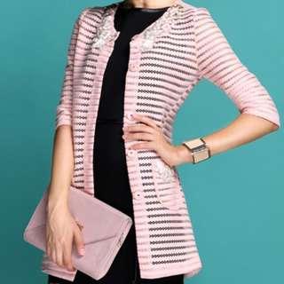 刺繡粉紅色外套