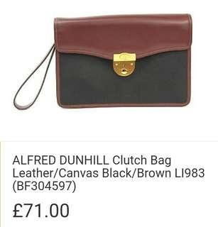 Alfred Dunhill Clutch (defective lock)