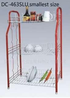 Home kitchen dish rack home display dishes shelf red / black