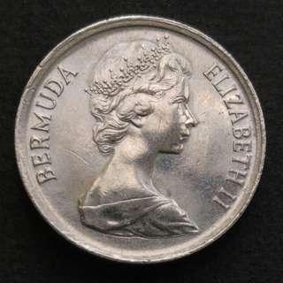 [錯體] 1985年 百慕達 一毫硬幣一枚
