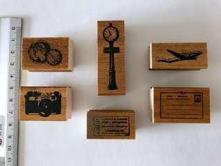 (M) Vintage KODOMO NO KAO Wooden Rubber Stamps #bundlesforyou