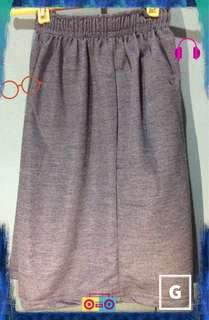 Gray Cotton Sweat Shorts