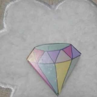 Diamond Acrylic Pin