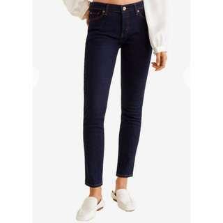 MANGO MNG denim dark blue jeans