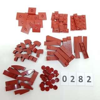 LEGO *Code 0282* Assorted Parts 90 pcs (Dark Red) - NEW