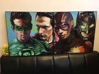 大掛畫 裝飾 型格超人閃電俠蝙幅俠綠燈俠