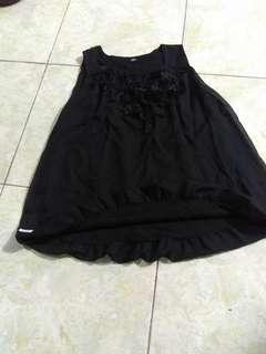 Atasan ball blouse black
