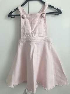 (7-9歲) Seeds 淺粉紅色工人款牛仔裙