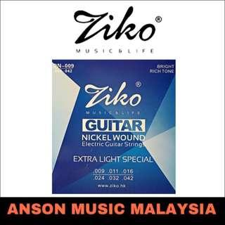 Ziko DN-009 Nickel Wound Extra Light Special Electric Guitar Strings, .009-.042