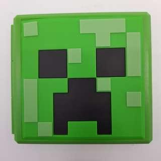 🚚 [In Stock] 12-in-1 Plastic Nintendo Switch Cartridge Holder with Minecraft Creeper Design