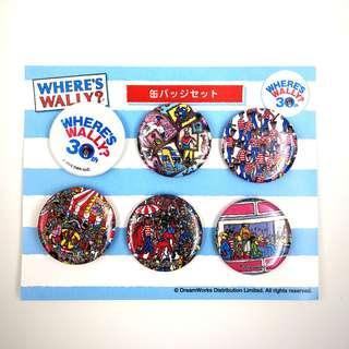 (現貨)Where's wally 扣章 / 30周年紀念/ 日本版 /一套六個