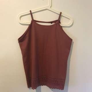 New Look Mauve Halter Top