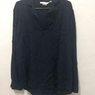 H&m Blue black blouse #bundlesforyou