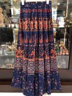 Dark blue clock skirt