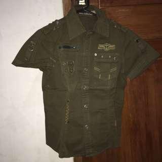 army shirt kaos kemeja