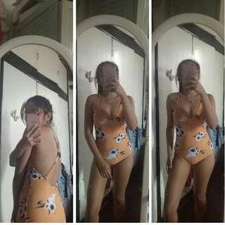 Mustard swimsuit one piece