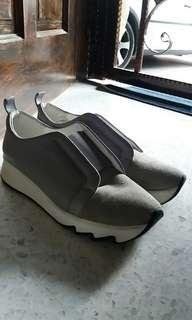 Light Grey Suede Leather Sneakers