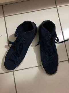 Adidas blue high cut sneakers size 8