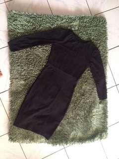 Dress black selutut goodquality no deffect kereen 👌☺️