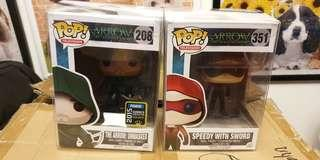Funko pop the arrow unmasked speedy with sword