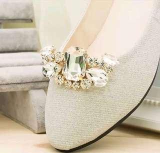 婚禮物資 水晶鞋扣 Crystal Clip