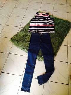 1stel atasan + celana panjang no deffect keren 👌