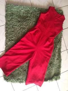 Jumsuit red keren no deffect