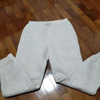 Kid pants with fur lining