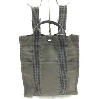Hermes Grey Nylon Canvas Airline Backpack (Two-way Bag)
