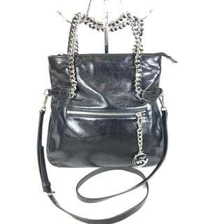 Michael Kors Black Leather Chain Two-way Bag