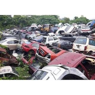Pembeli kereta scrap dan tersadai