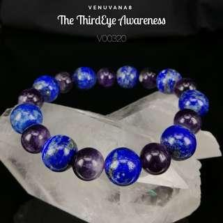 🚚 The ThirdEye Awareness Amethyst & Lapis Lazuli Crystal Bracelet (10&11mm Bead) - A bracelet specially designed with the intention to heal our Upper Chakras.