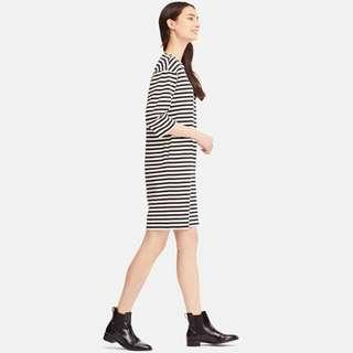 Uniqlo Striped Midi Dress