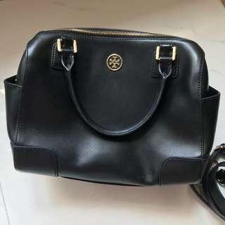 tory burch 黑色保齡球袋 card holder bag