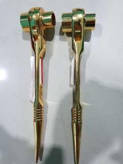 Chrome plated gold scaffolding double ratchet