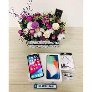 【強強滾3C】二手IphoneX 64G銀(保固到2018/11/04)#14418