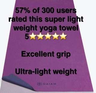 Gaiam Anti-slip yoga towel lightweight