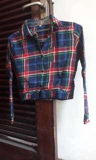 Crop top flannel