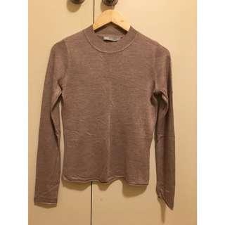 ASOS Mink Blush Light Knit Long Sleeve Top