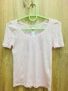 F21 brandnew lightpink fitted blouse