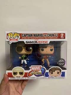 funko Captain Marvel vs Chunli Gamerverse. New!