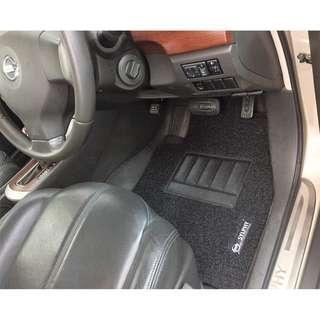 2007 TO 2012 NISSAN SYLPHY OEM FITMENT CAR FLOOR MAT..BLACK PVC CARPET MAT WITH NISSAN SYLPHY LOGO 5 PCS... LAST SETS ON SALES !!