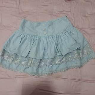 Real cute liz lisa inspired frilly baby blue skirt