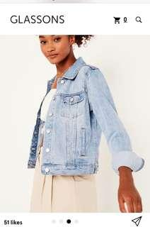 Glassons blue denim jacket size 8