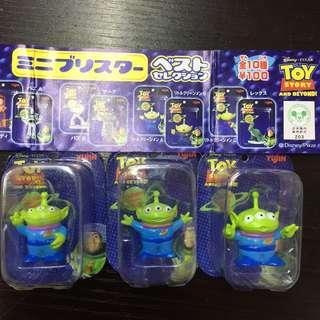 Yujin Toy Story 三眼仔 迷你吸塑 figure set of 3