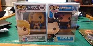 Funko pop superboy power girl super boy