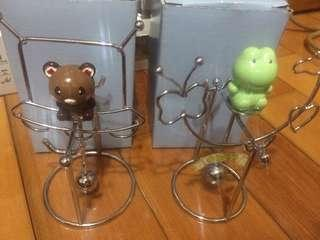 🚚 桌面擺飾搖擺可愛動物兩件組