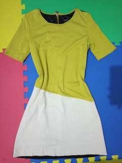 MANGO Black Mustard Dress